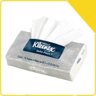 Pañuelos desechables kleenex precio